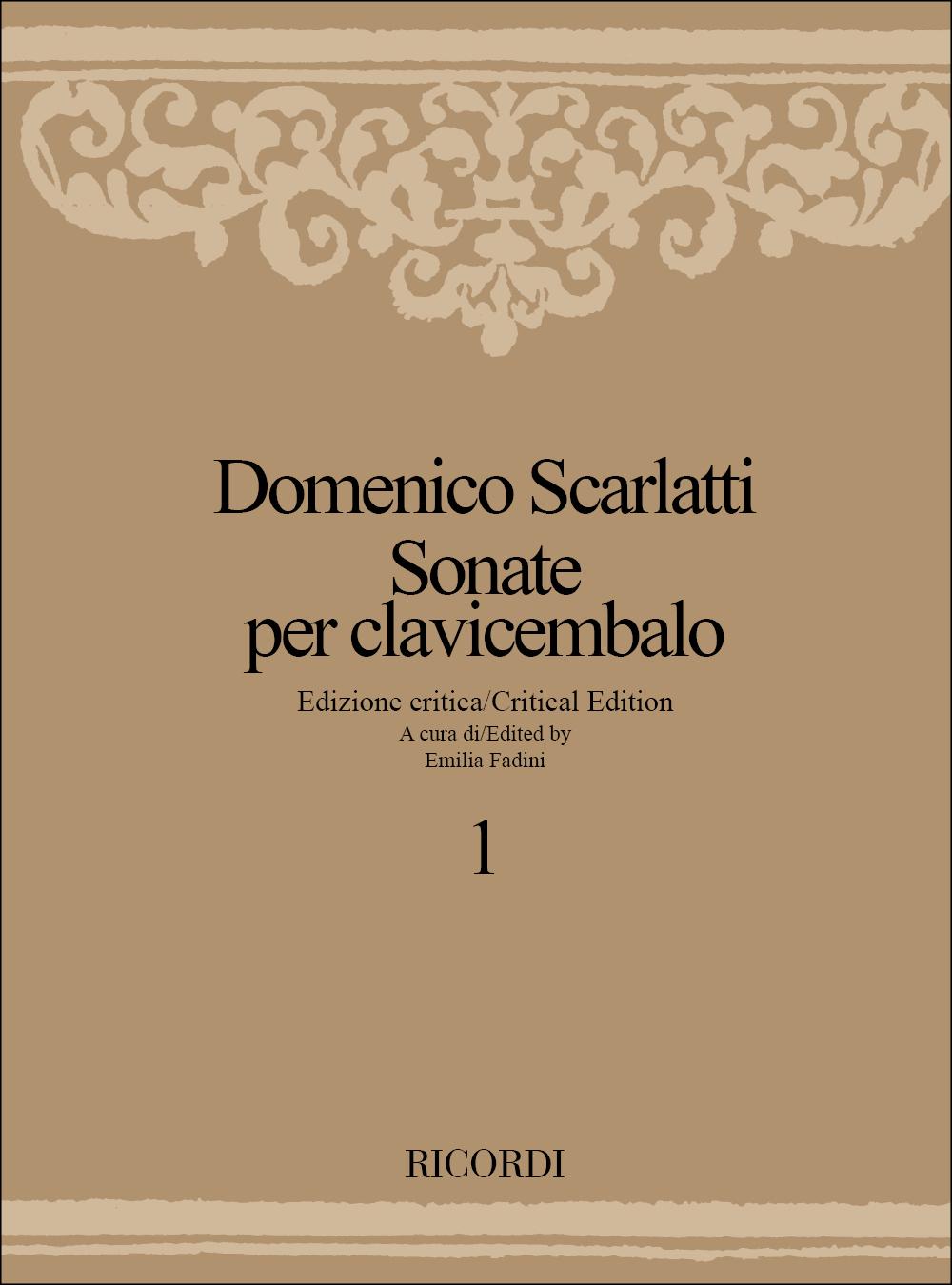 Domenico Scarlatti: Sonate Per Clavicembalo - Volume 1: Harpsichord