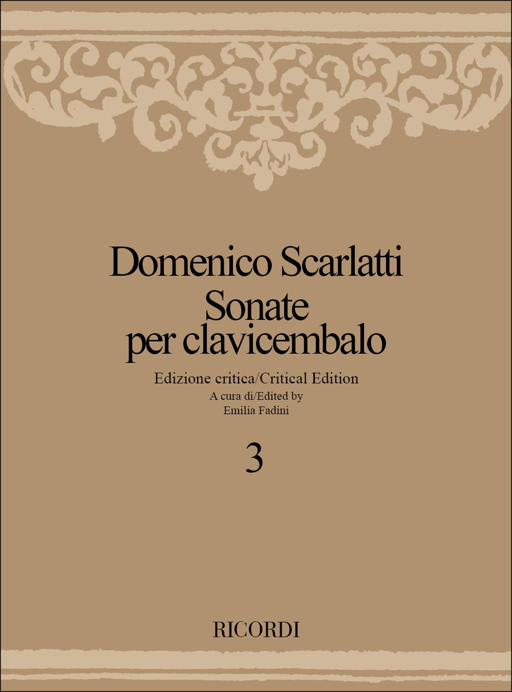 Domenico Scarlatti: Sonate Per Clavicembalo - Volume 3: Harpsichord