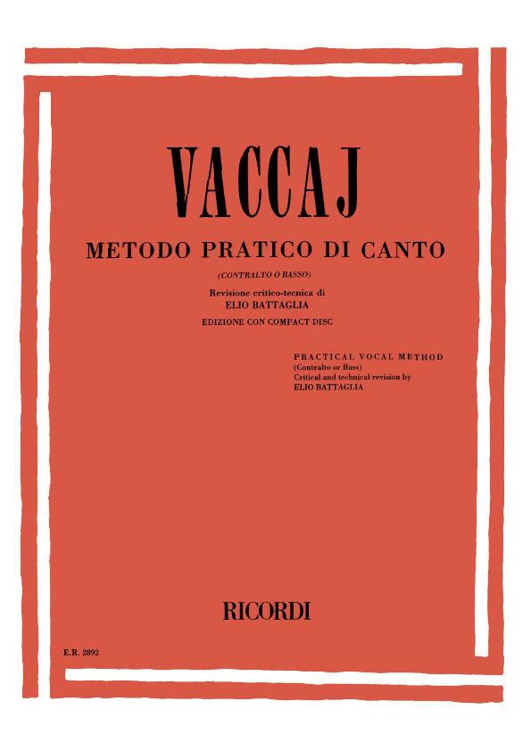 Nicola Vaccai: Metodo Pratico di Canto: Vocal: Vocal Tutor