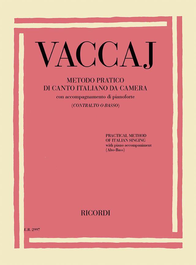 Nicola Vaccai: Practical Method of Italian Singing: Low Voice