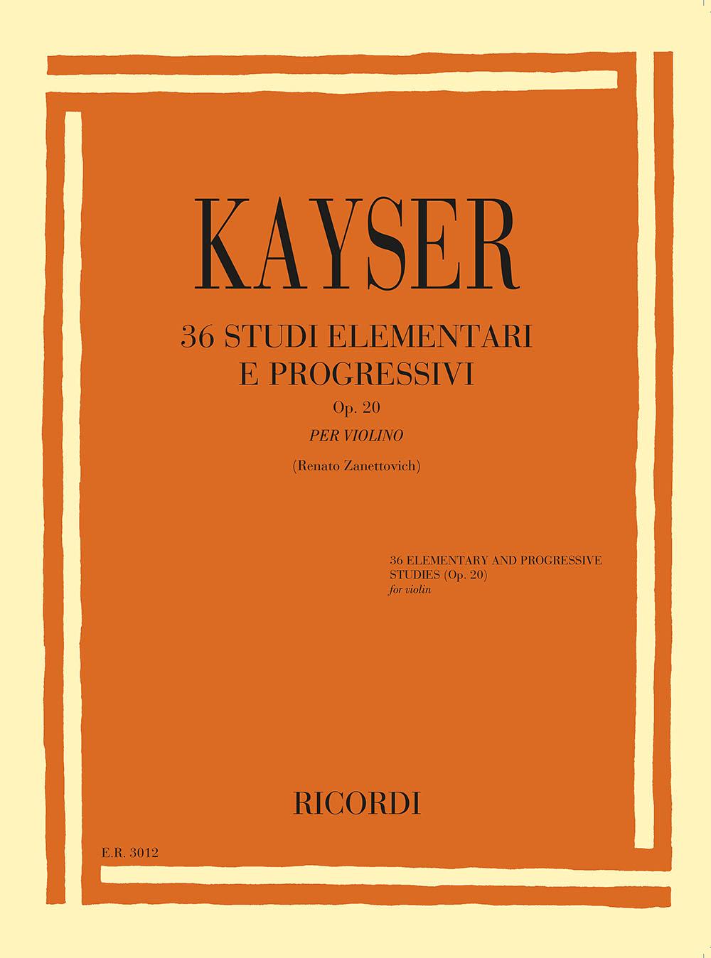 Heinrich Ernst Kayser: 36 Studi elementari e progressivi Op.20: Violin
