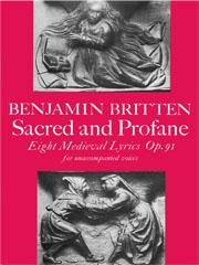 Benjamin Britten: Sacred And Profane: SATB: Vocal Score