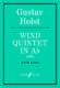 Gustav Holst: Wind Quintet In A Flat: Wind Ensemble: Score