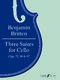 Benjamin Britten: Three Suites For Cello: Cello: Instrumental Album