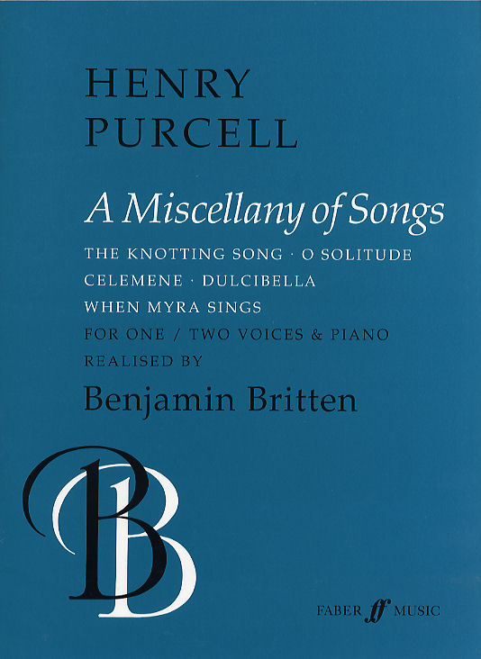 Britten Purcell: Miscellany Of Songs: Voice: Artist Songbook