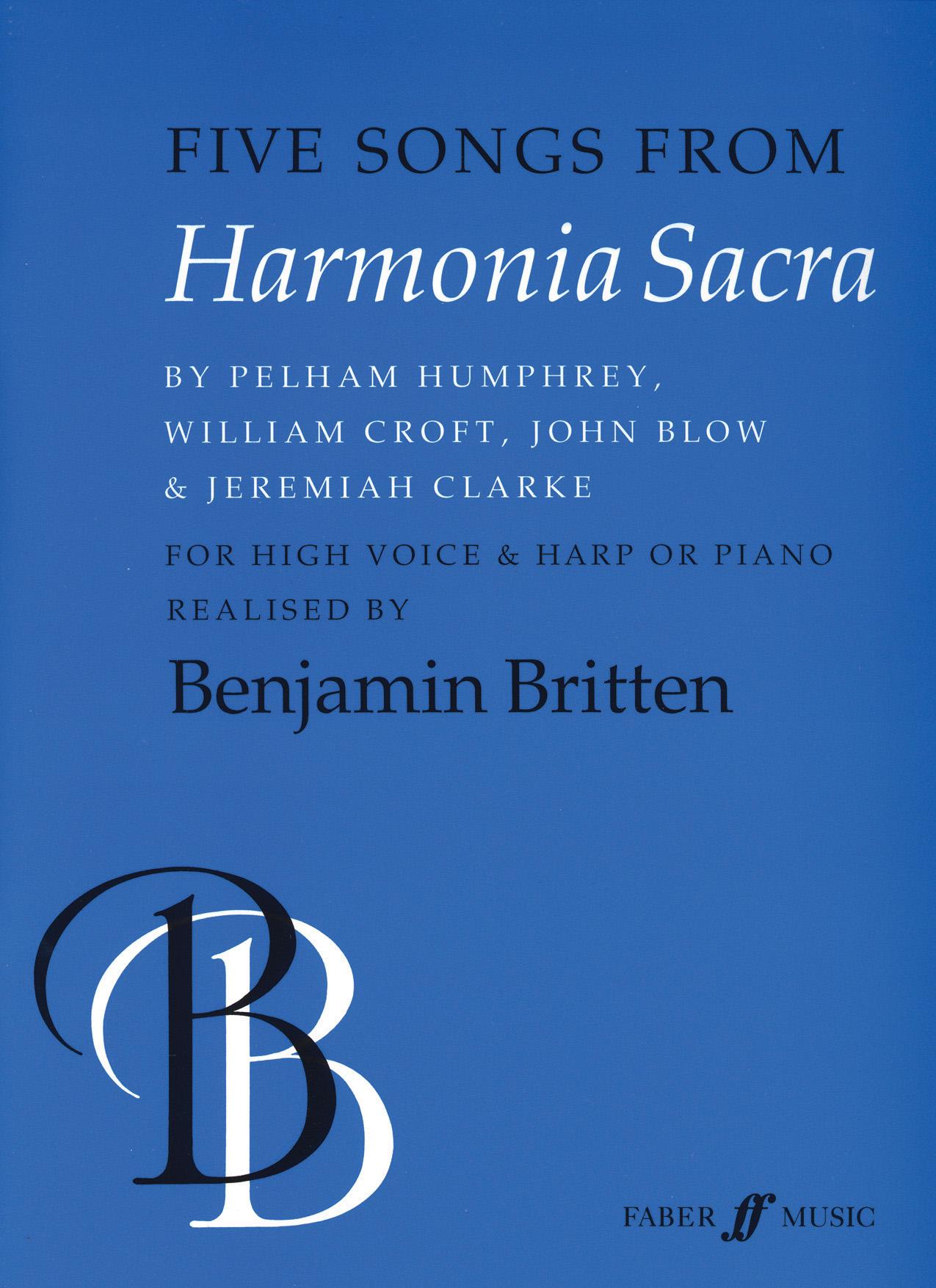 Benjamin Britten: Five Songs from Harmonia Sacra: Voice: Vocal Album