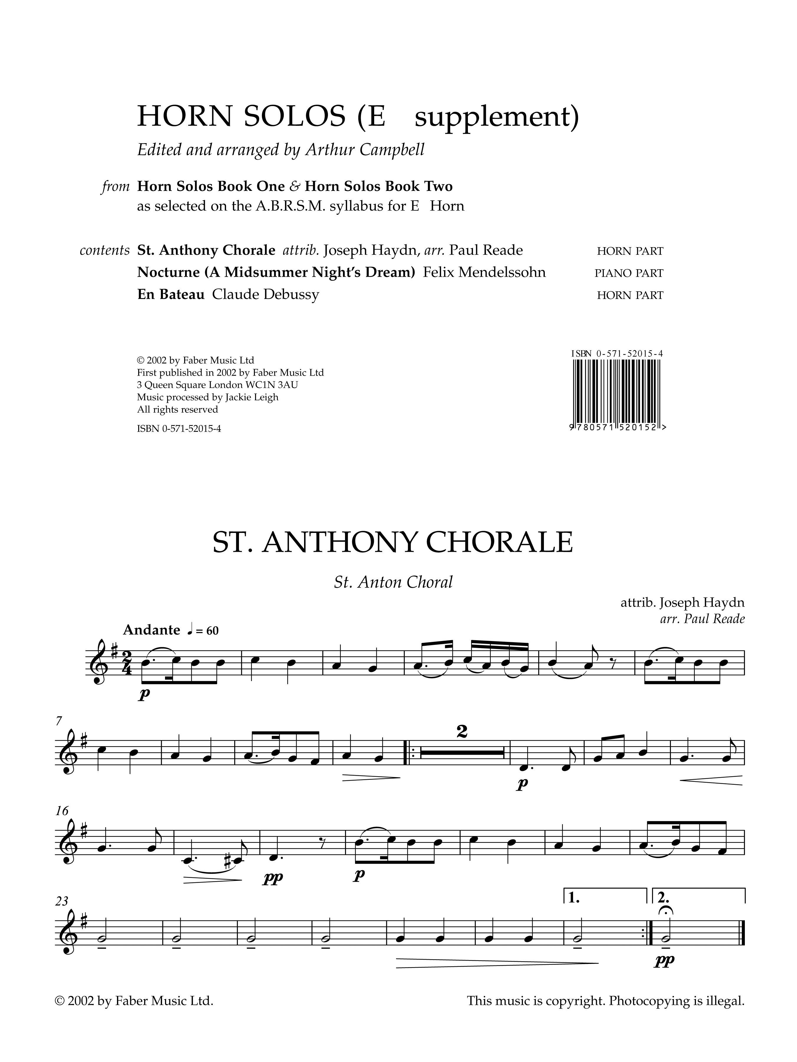 Horn Solos. Books 1 & 2: Tenor Horn: Instrumental Album
