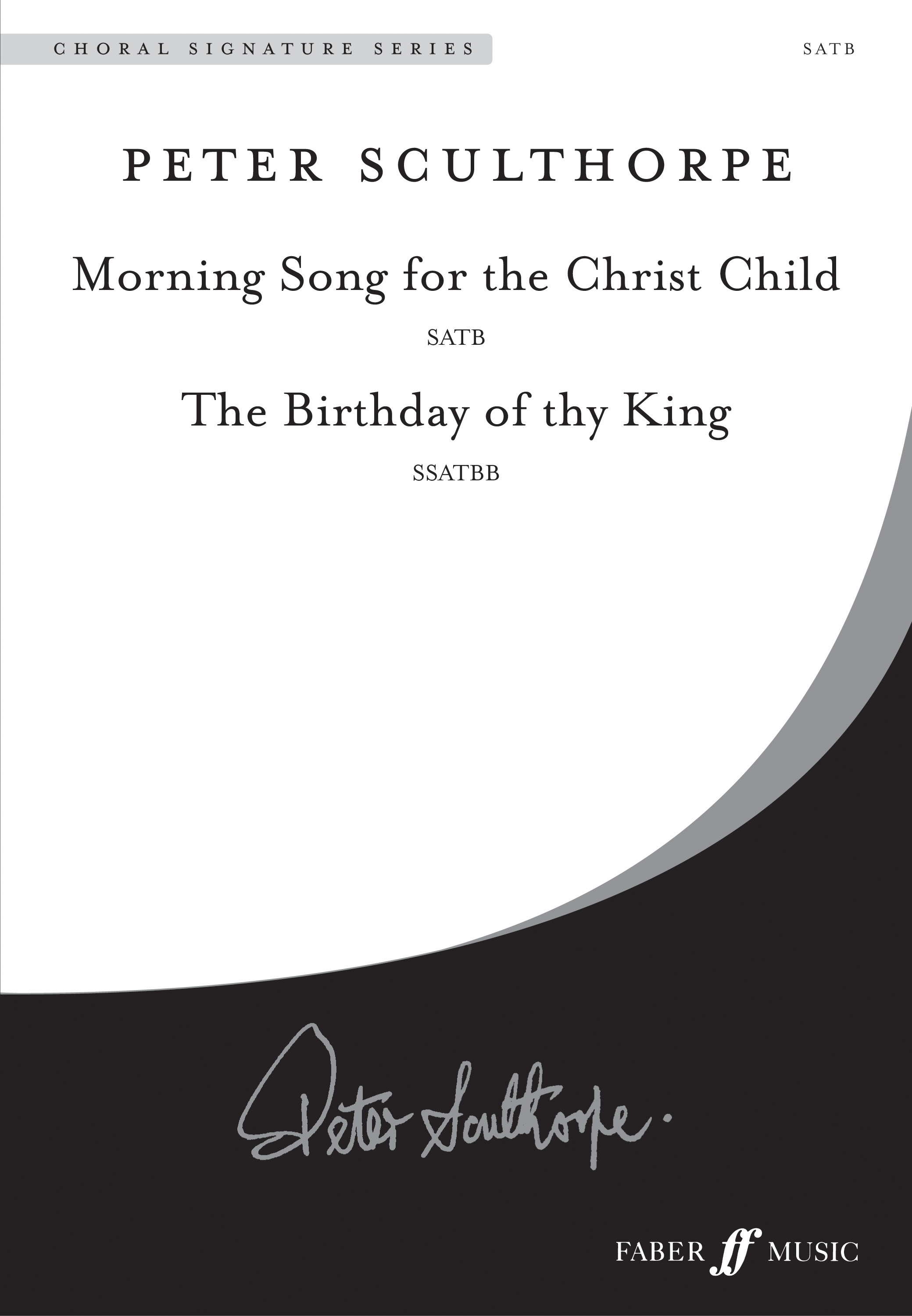 Peter Sculthorpe: Morning Song-Birthday of thy King.: SATB: Vocal Score