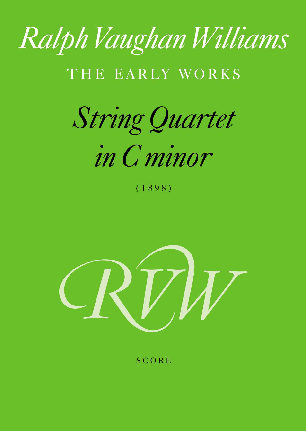 Ralph Vaughan Williams: String Quartet In C Minor: String Quartet: Score