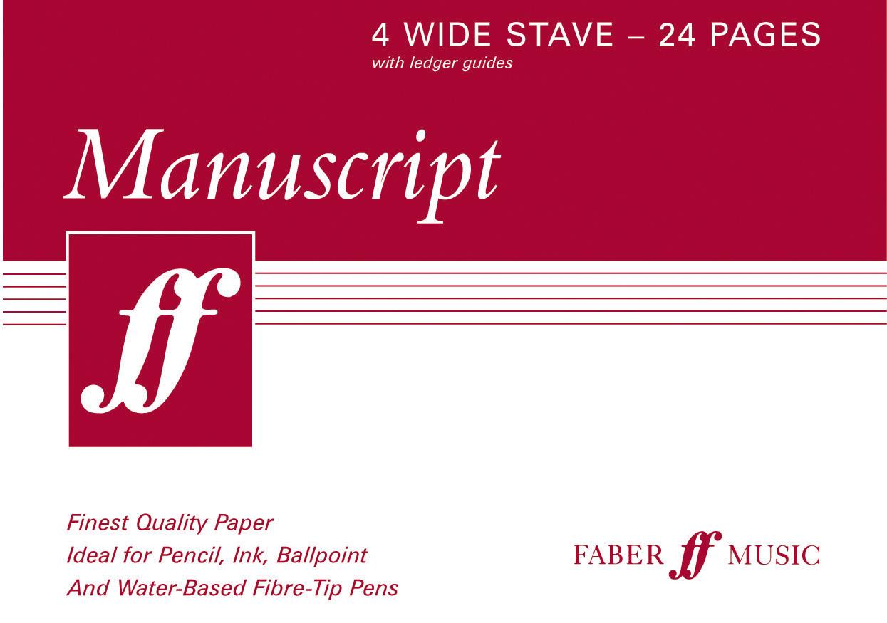 Manuscript A5 4-stave (wide) 24pp (white): Manuscript