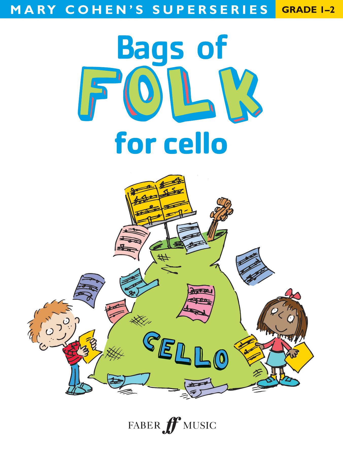 Mary Cohen: Bags of Folk for cello: Cello: Instrumental Album
