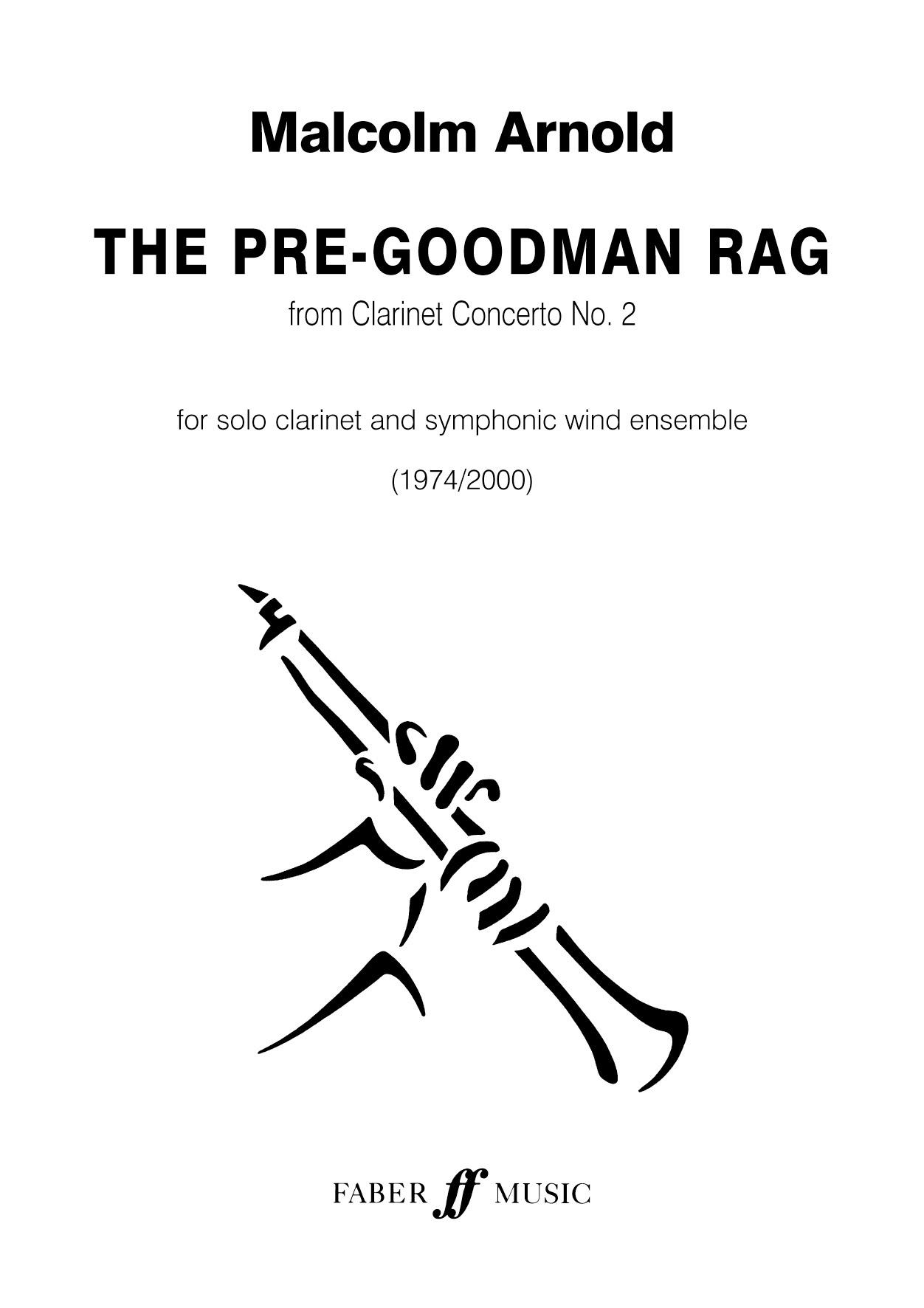 Malcolm Arnold: Pre-Goodman Rag. Wind band: Concert Band: Score