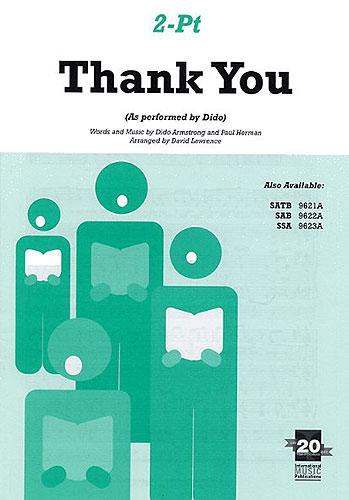 Dido: Thank you.: SATB: Mixed Songbook