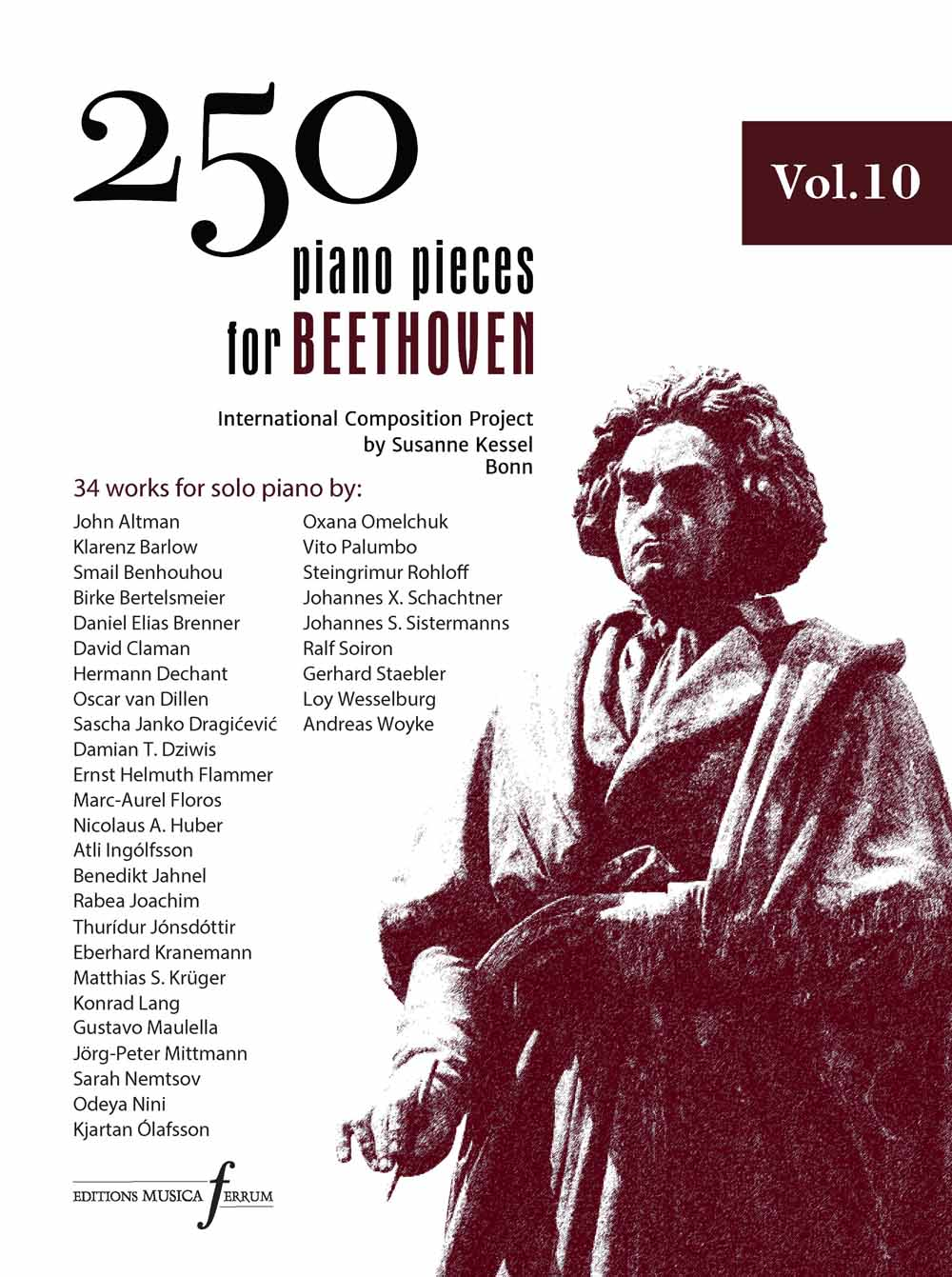 250 Piano Pieces For Beethoven - Vol. 10: Piano: Instrumental Collection