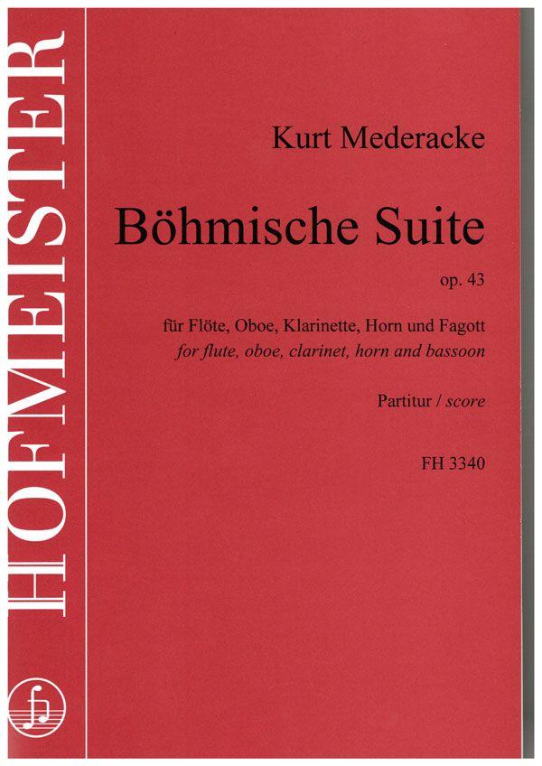 Kurt Mederacke: Böhmische Suite  op. 43: Wind Quintet: Score