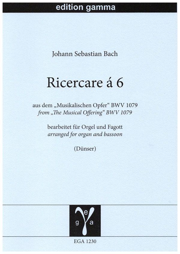 Johann Sebastian Bach: Ricercare à 6: Bassoon and Accomp.: Instrumental Work