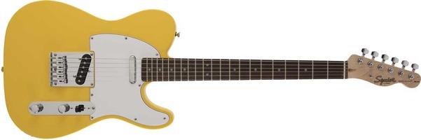 FSR Affinity Series Tele Graffiti Yellow Guitar: Electric Guitar
