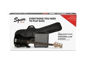 Affinity Precision Bass Guitar PJ Pack Black: Bass Guitar