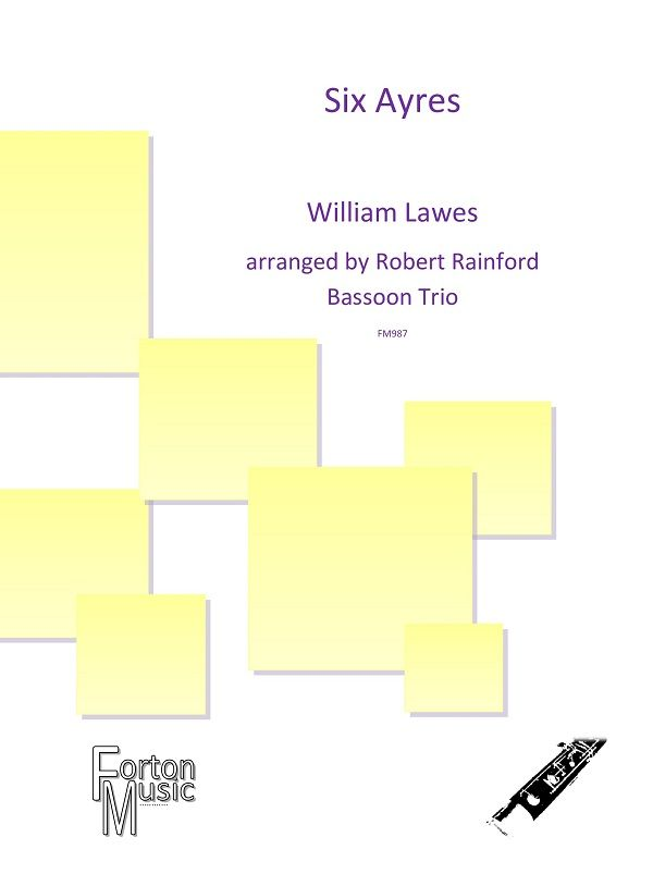 William Lawes: Six Ayers: Bassoon Ensemble: Score and Parts