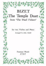 Georges Bizet: Temple Duet: Violin: Instrumental Work