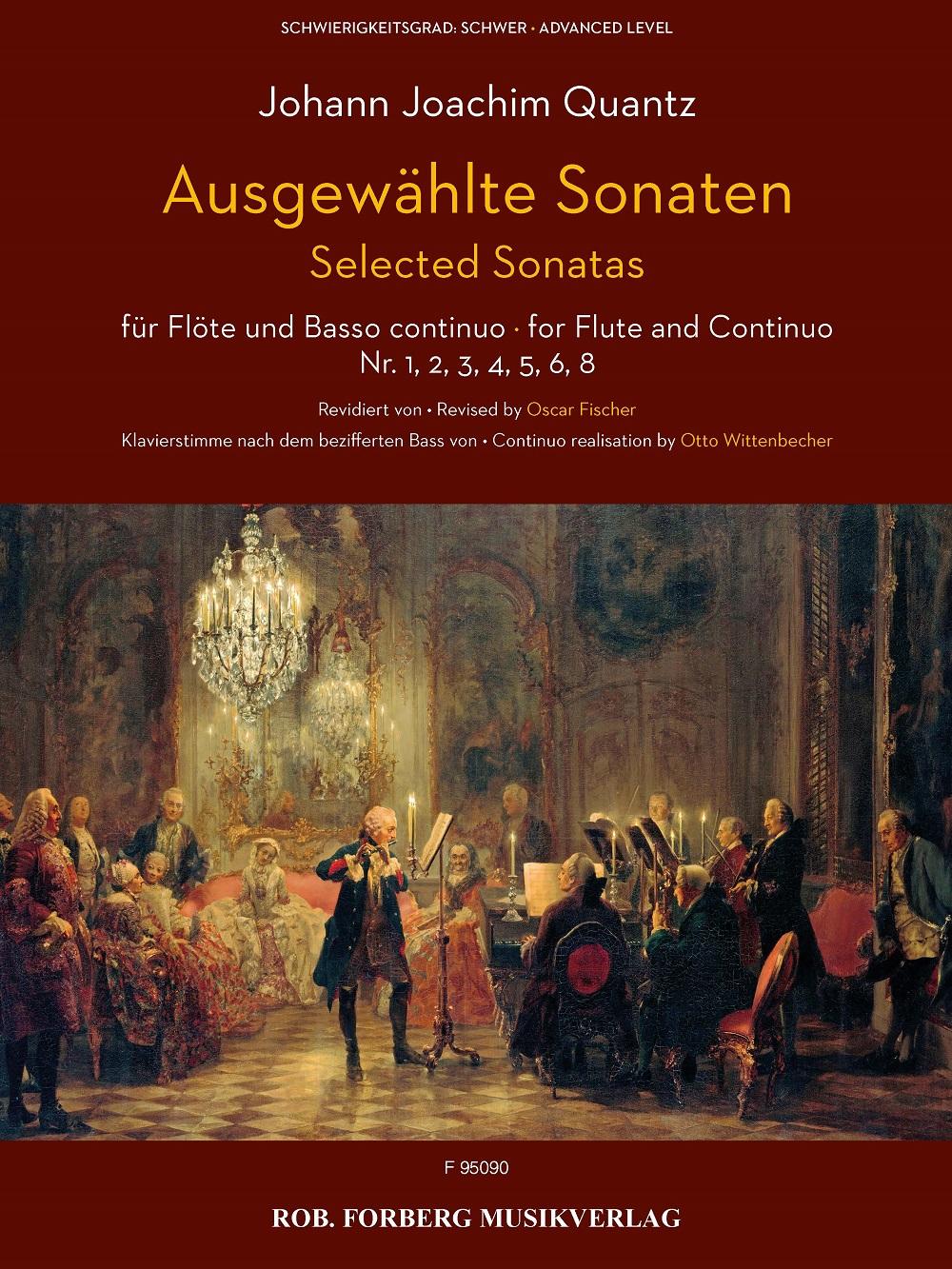 Johann Joachim Quantz: Ausgewählte Sonaten für Flöte und Basso continuo: Flute: