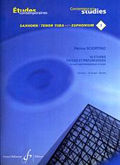 Patrice Sciortino: 50 Etudes Faciles Et Progressives Vol.1: Euphonium: Score
