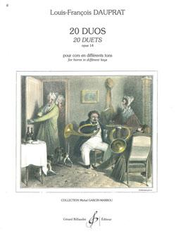 Louis-François Dauprat: 20 Duos Opus 14: French Horn Duet: Score