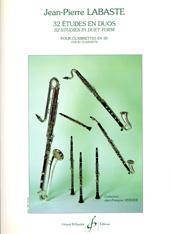 Jean-Pierre Labaste: 32 études en duo: Clarinet: Score