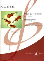 Pierre Rode: 1Er Solo Du 1Er Concerto En Re Mineur: Violin Duet: Score