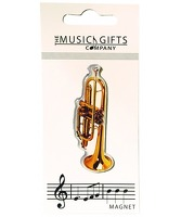 Music Gifts Fridge Magnet Trumpet: Ornament