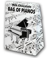 Belgian Milk Chocolate Bag Of Pianos - 100g: Edible