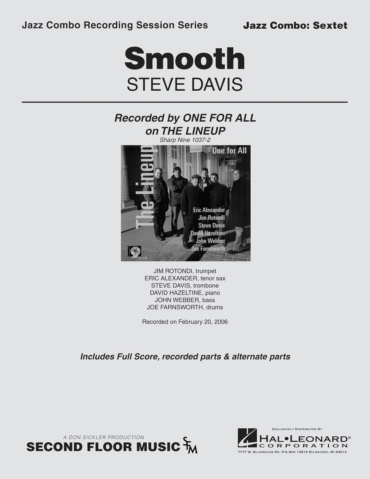 Steve Davis: Smooth: Jazz Ensemble: Score