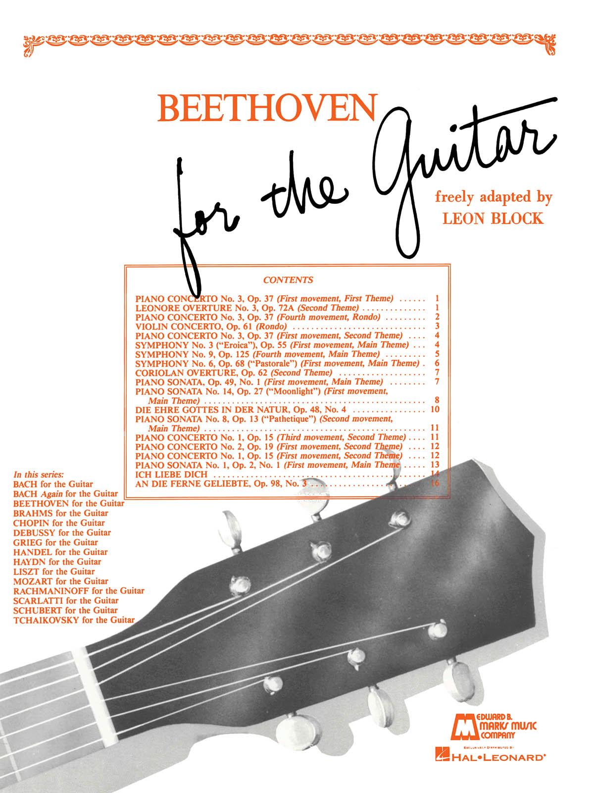 Ludwig van Beethoven: Beethoven for Guitar: Guitar Solo: Instrumental Album