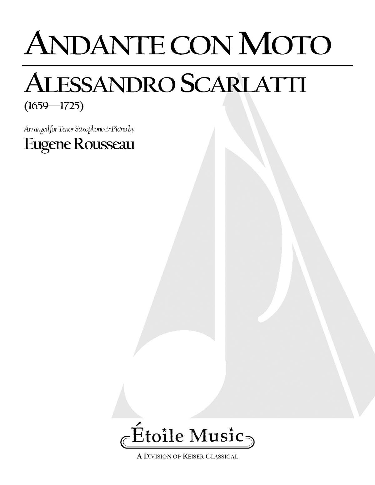 Alessandro Scarlatti: Andante Con Moto: Tenor Saxophone and Accomp.: