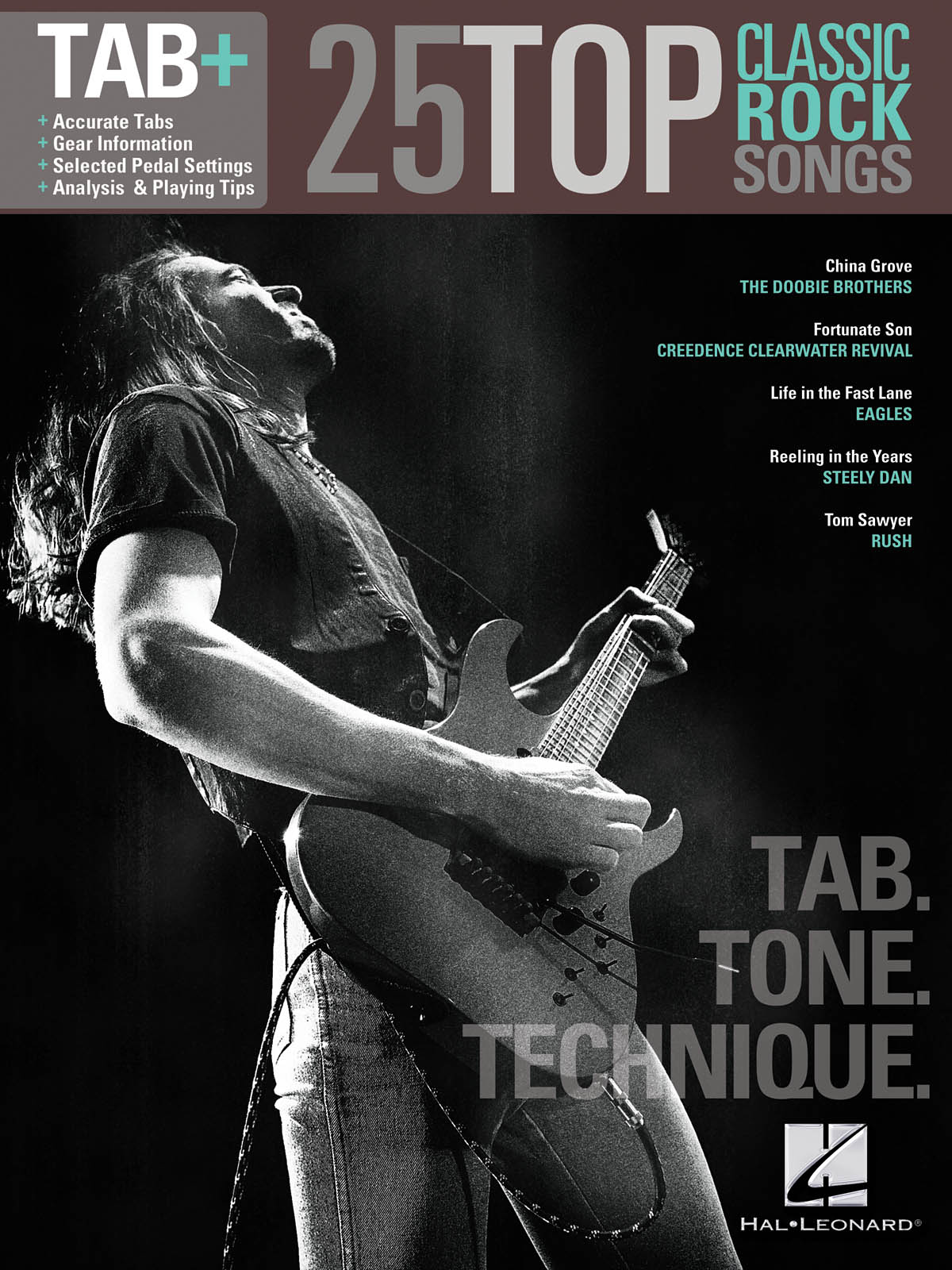 25 Top Classic Rock Songs - Tab. Tone. Technique.: Guitar Solo: Mixed Songbook