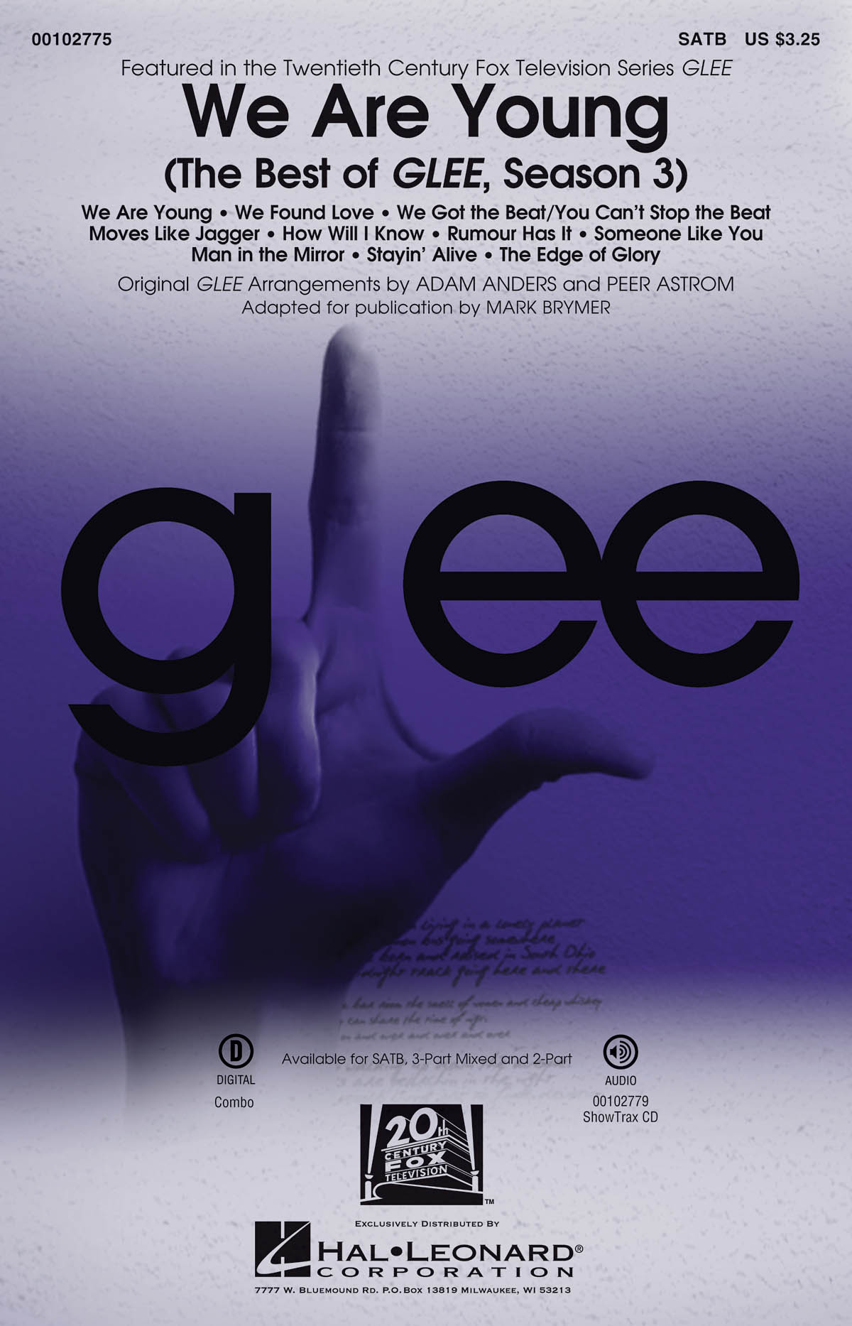 Glee Cast: We Are Young: Mixed Choir a Cappella: Vocal Score
