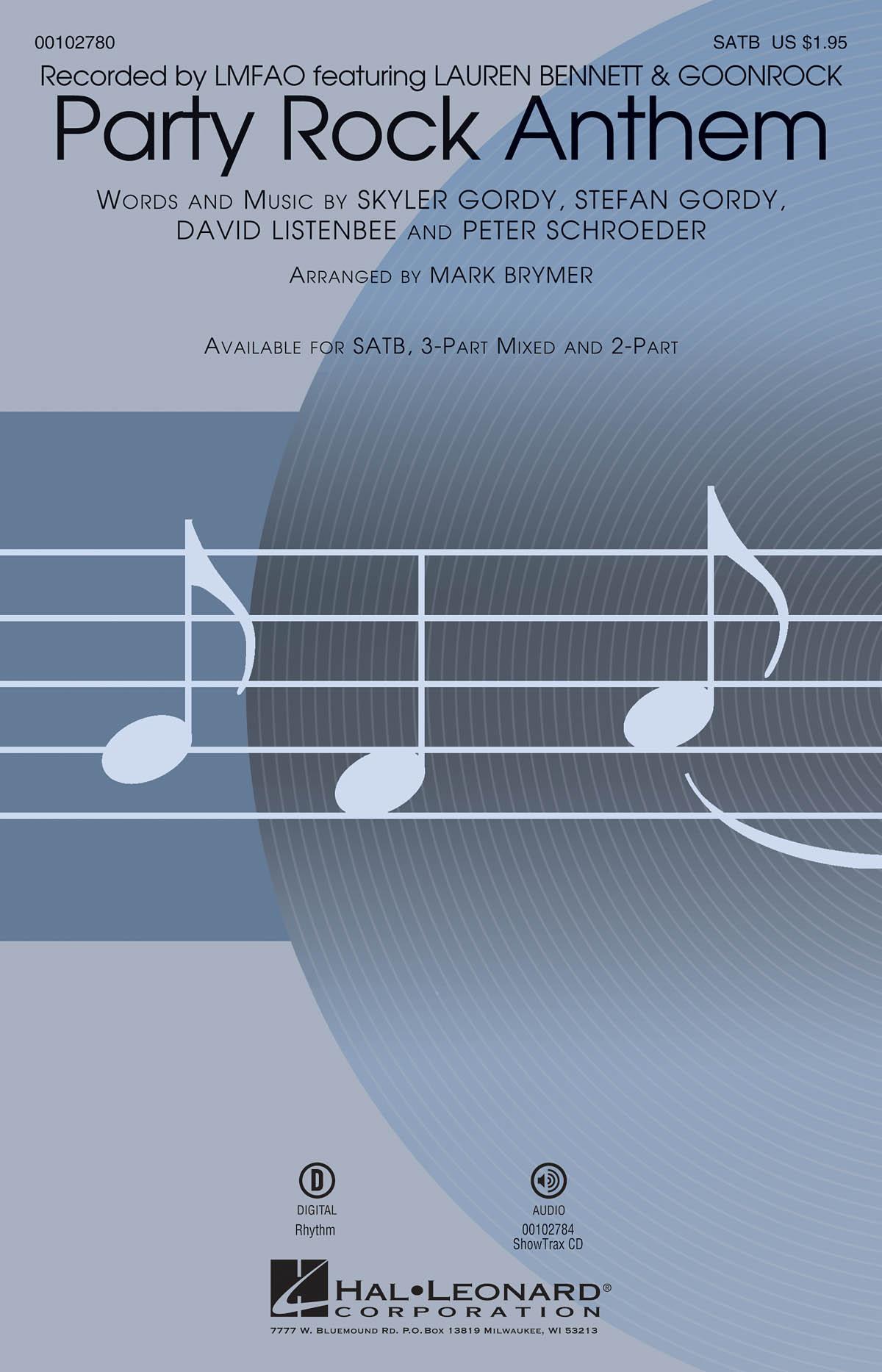 LMFAO: Party Rock Anthem: Mixed Choir a Cappella: Vocal Score