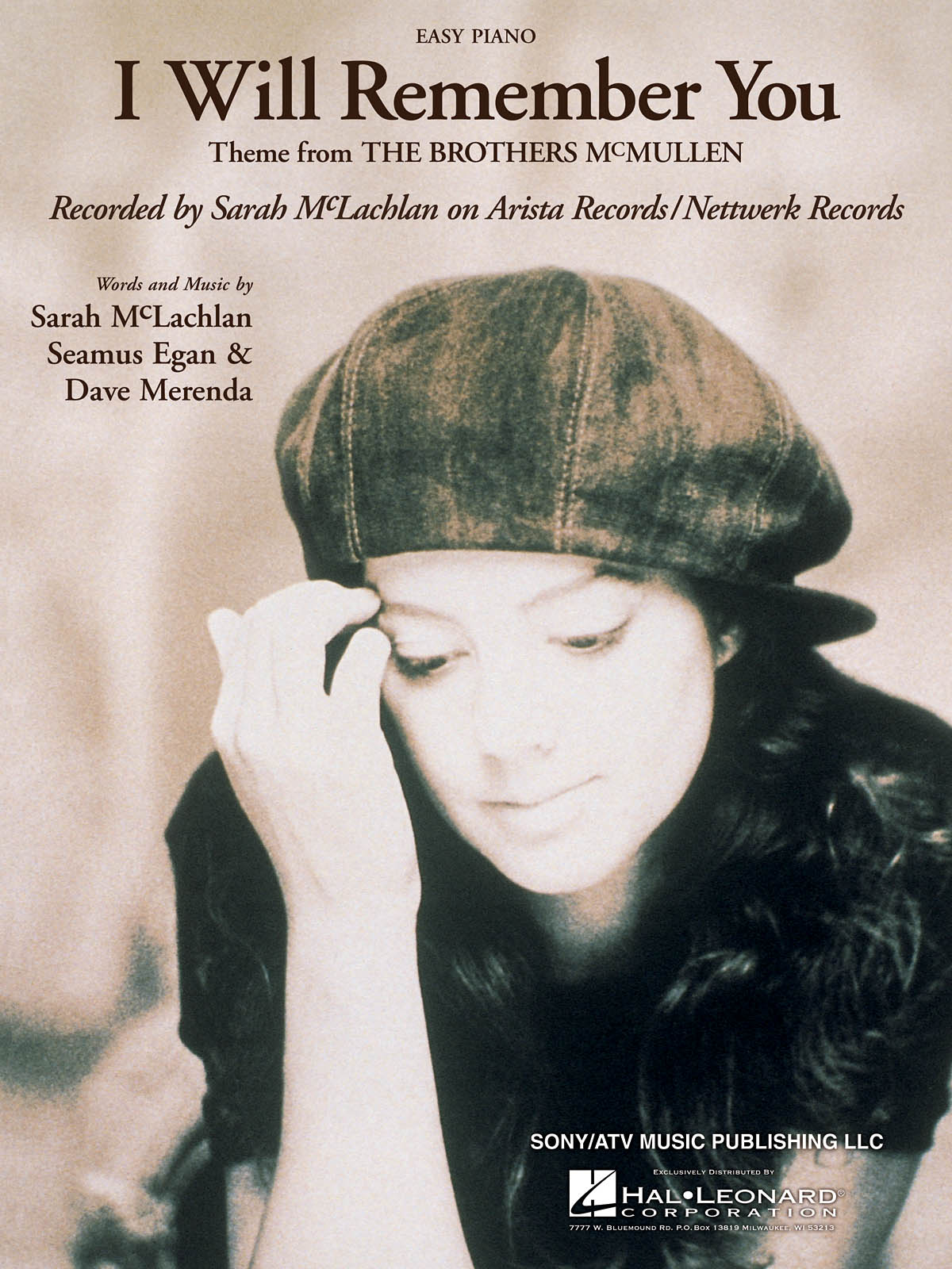 Sarah McLachlan: I Will Remember You: Piano
