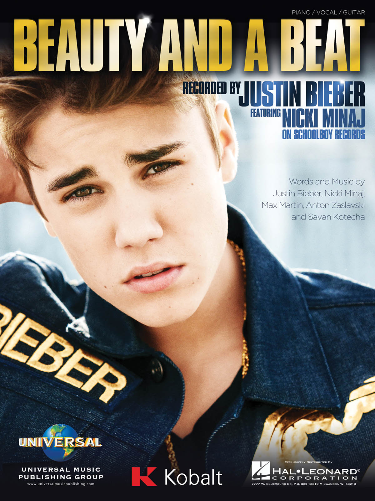 Justin Bieber: Beauty and a Beat: Vocal and Piano: Single Sheet