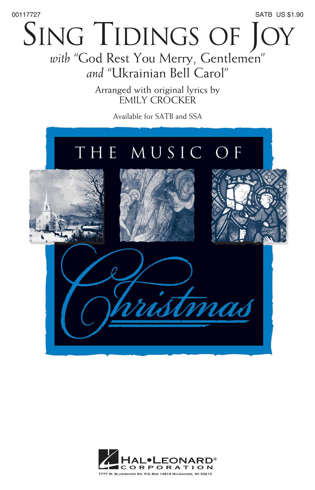 Sing Tidings of Joy: Mixed Choir a Cappella: Vocal Score