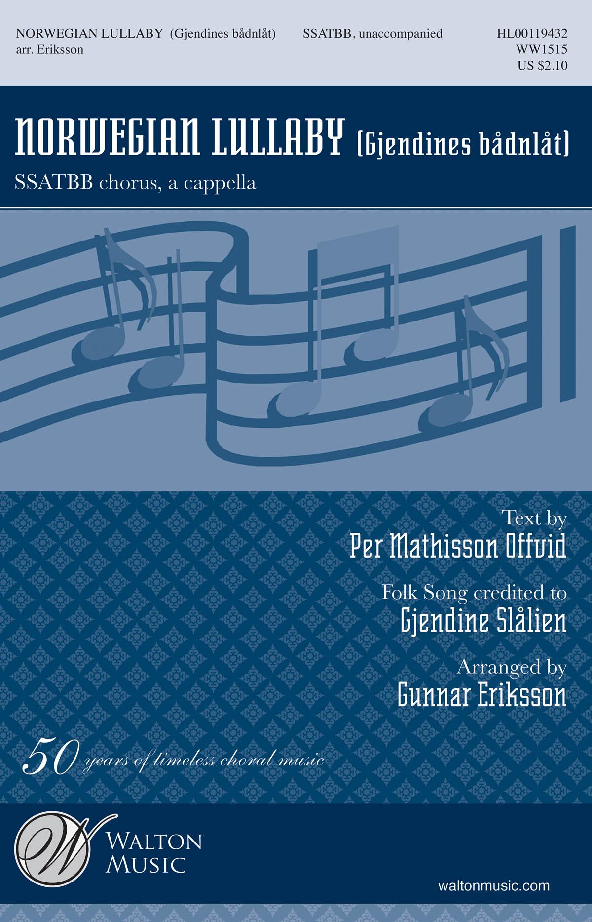 Mathisson Offvid: Norwegian Lullaby (Gjendines Badnlat): Mixed Choir a Cappella: