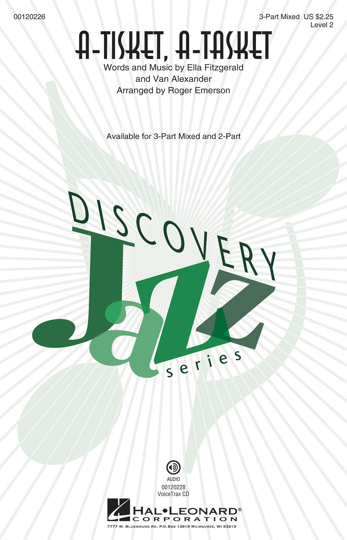 Ella Fitzgerald: A-Tisket  A-Tasket: Mixed Choir a Cappella: Vocal Score
