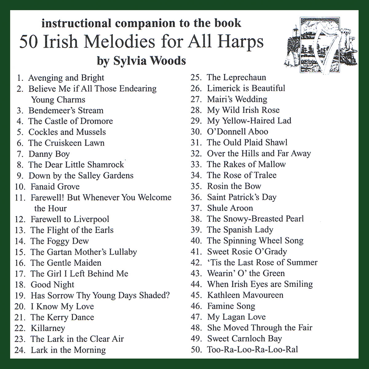 50 Irish Melodies for All Harps: Harp Solo: CD