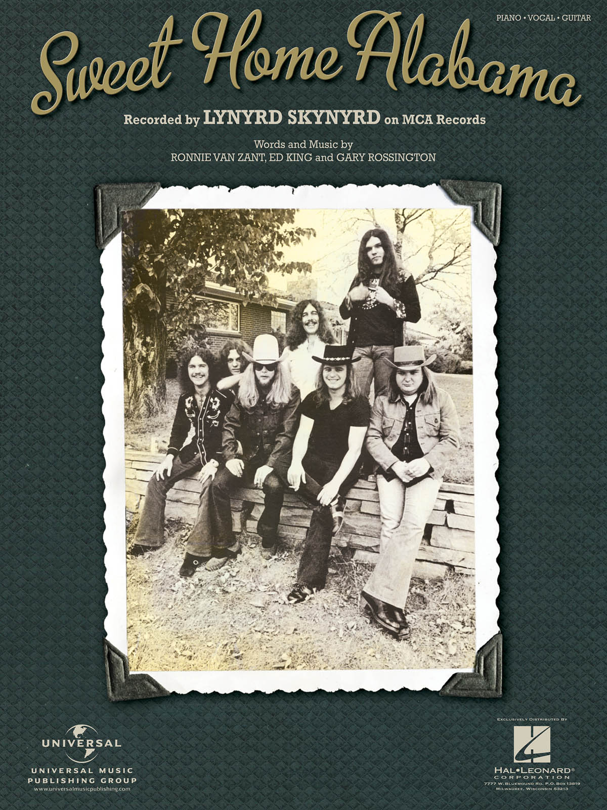 Lynyrd Skynyrd: Sweet Home Alabama: Piano  Vocal and Guitar: Mixed Songbook