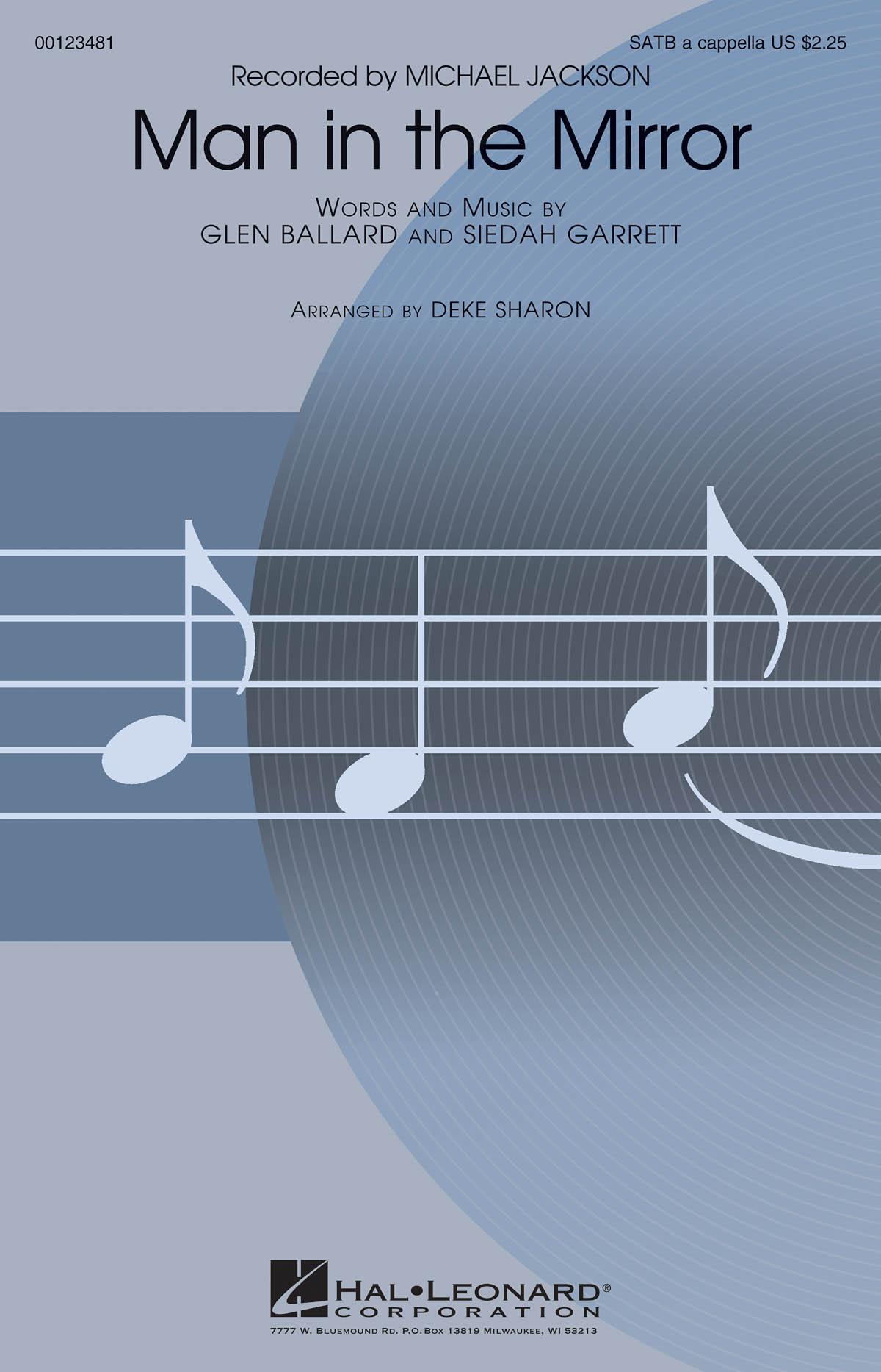 Michael Jackson: Man in the Mirror: SATB: Vocal Score