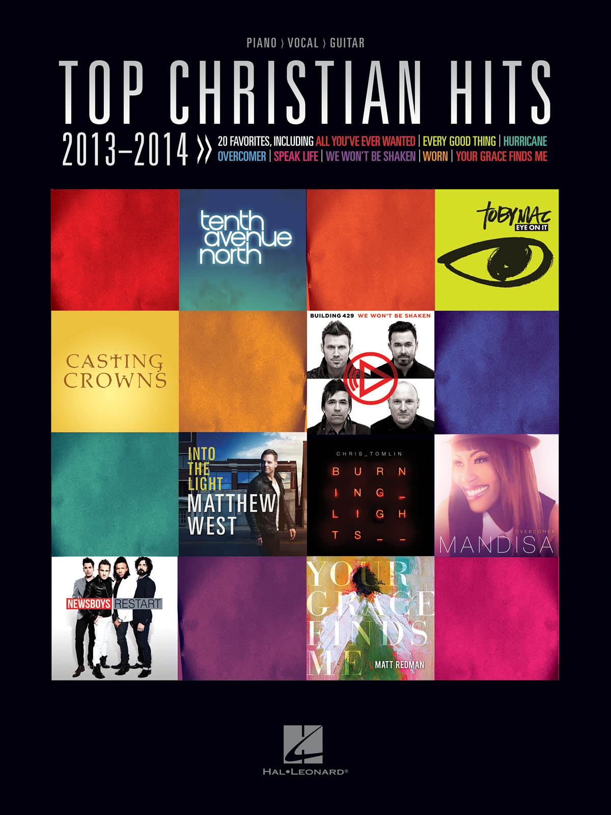 Top Christian Hits 2013-2014: Piano  Vocal and Guitar: Mixed Songbook