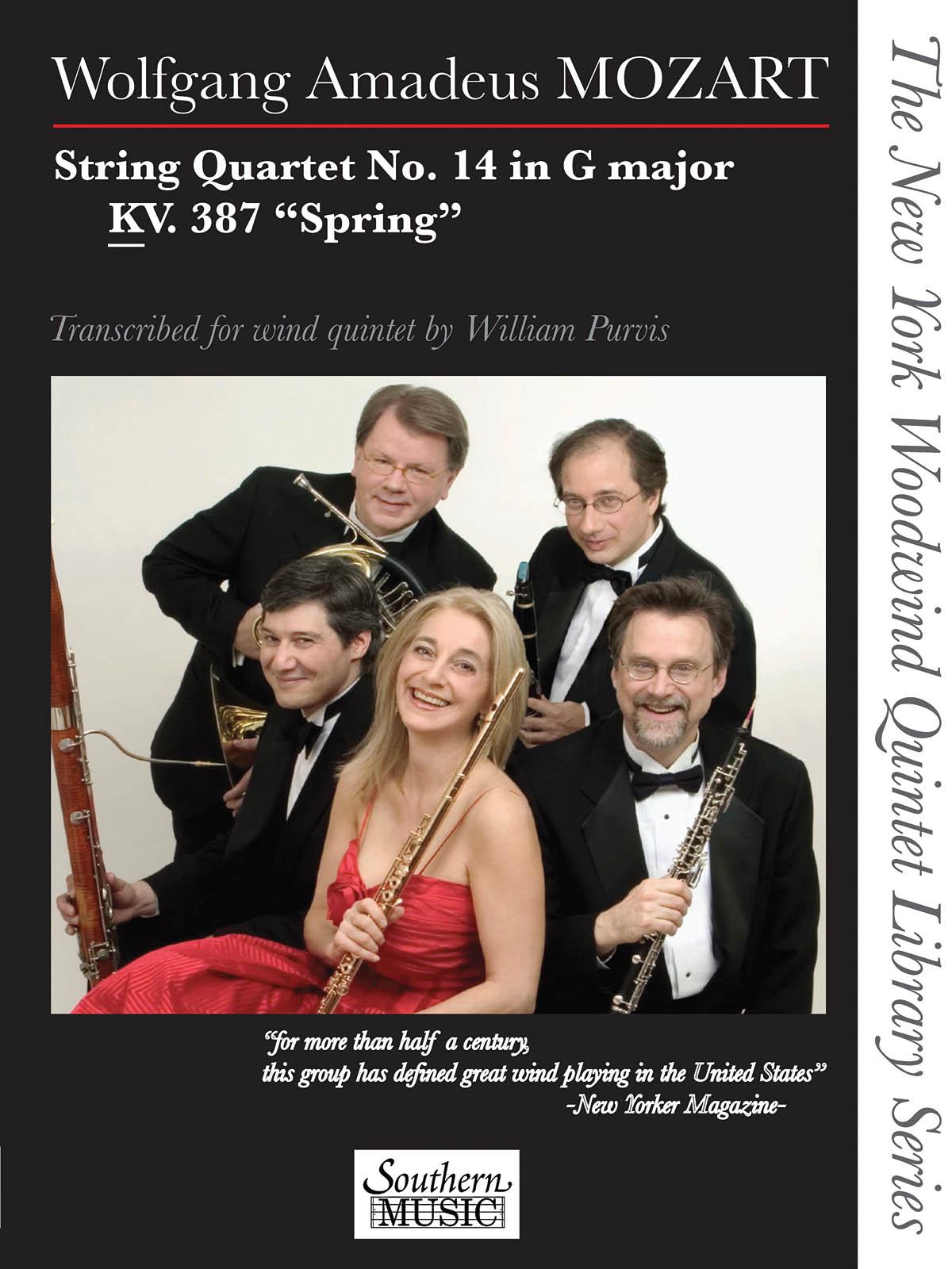 Wolfgang Amadeus Mozart: String Quartet No. 14 in G Major  KV. 387 Spring: Wind