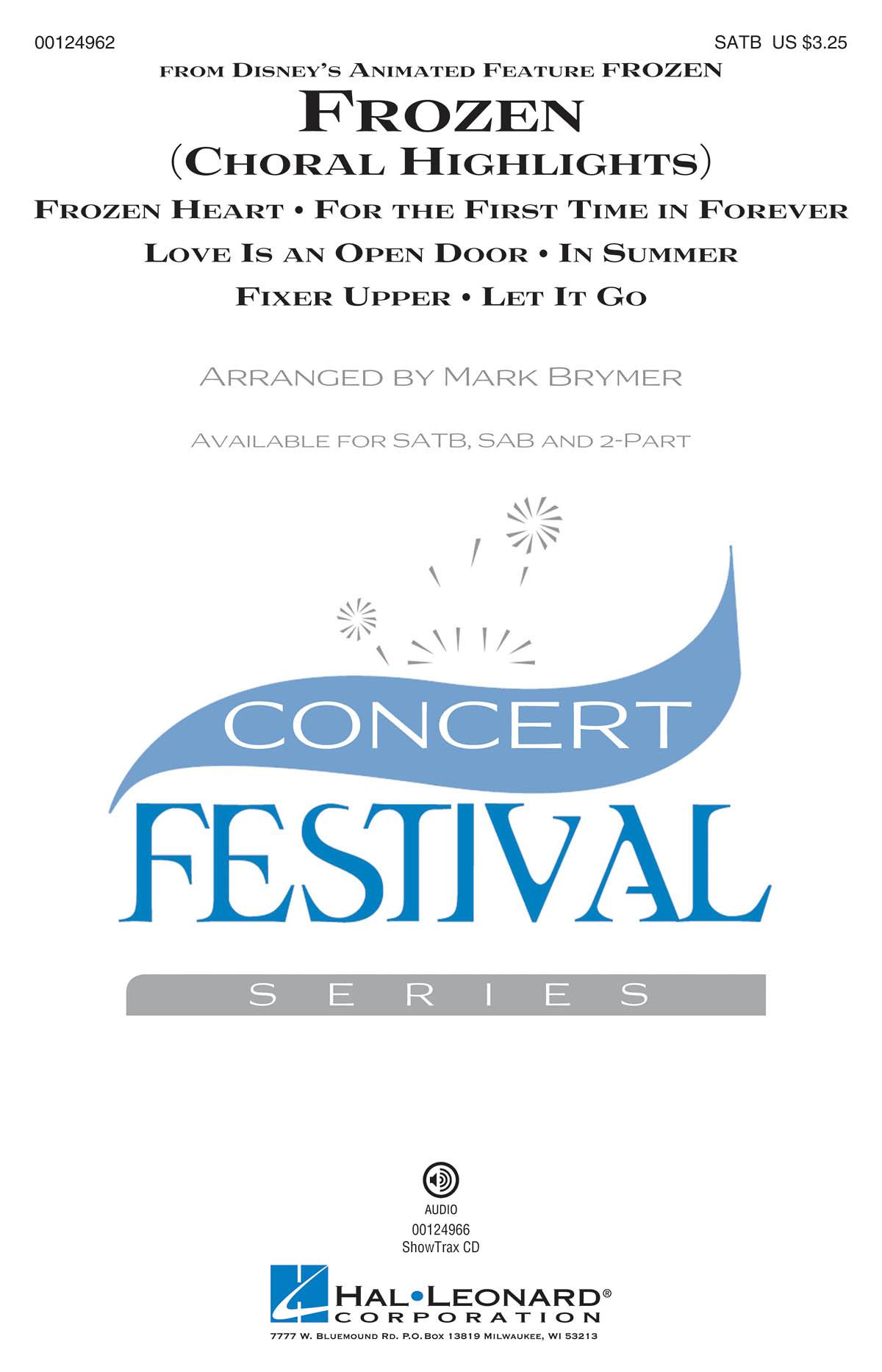 Frozen (Choral Highlights): Mixed Choir a Cappella: Vocal Score