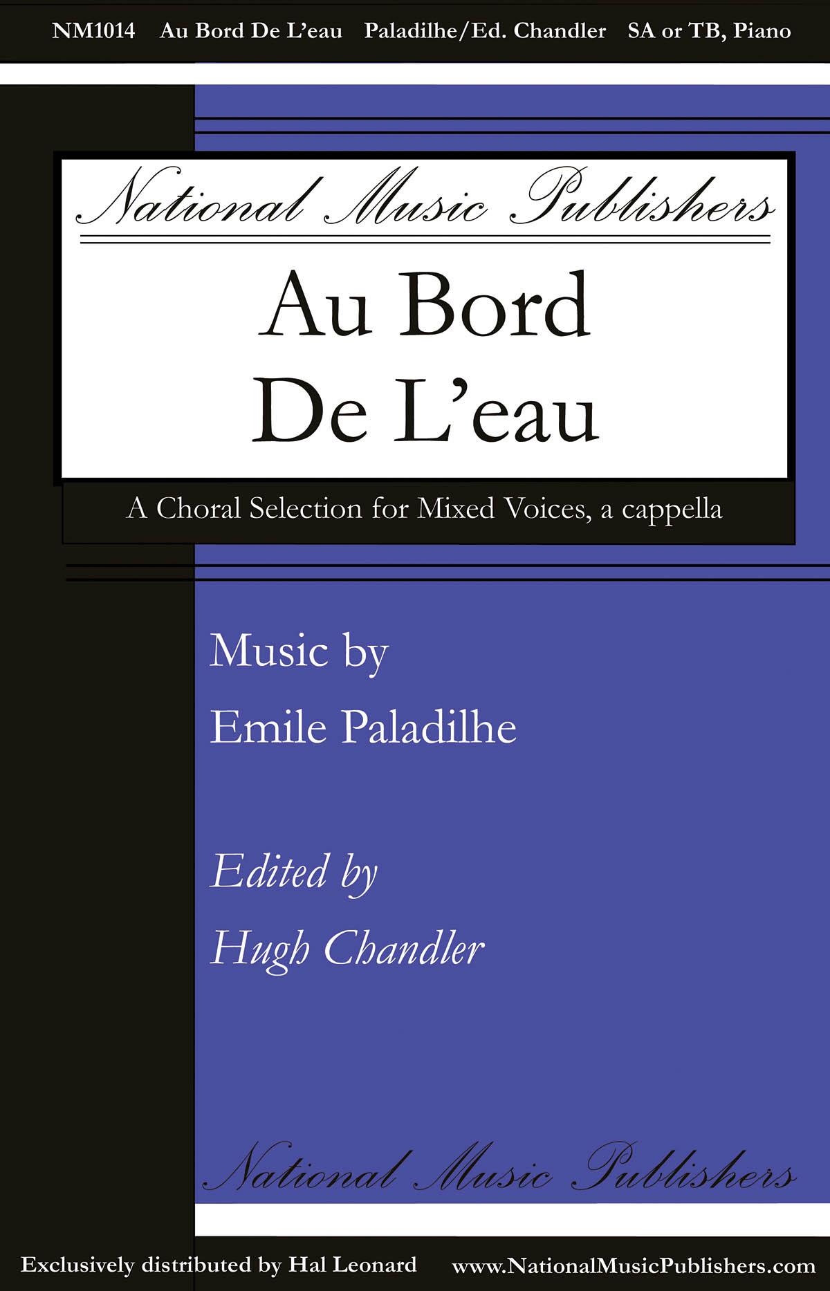 Emile Paladilhe: Au Bord de l'Eau: Upper Voices a Cappella: Vocal Score