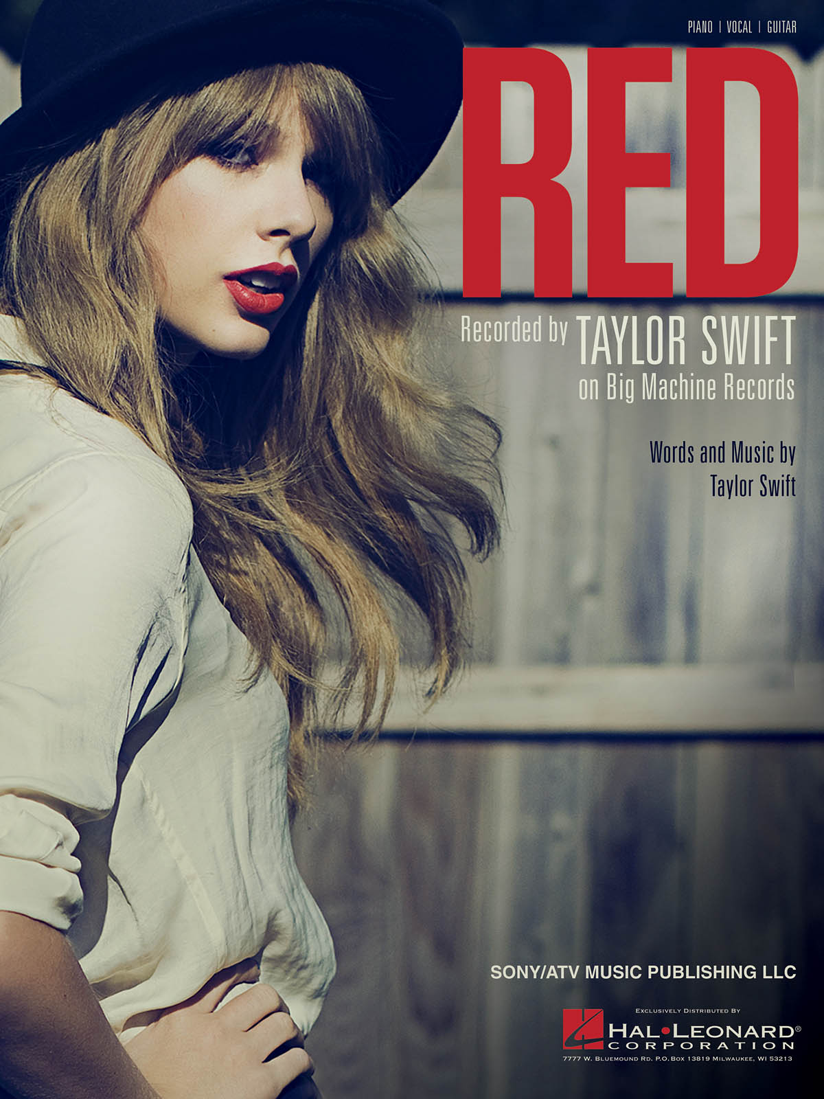 Taylor Swift: Red: Piano  Vocal and Guitar: Mixed Songbook